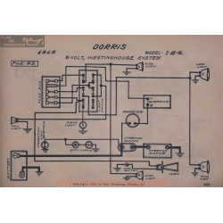Dorris I A 6 6volt Schema Electrique 1915 Westinghouse V2
