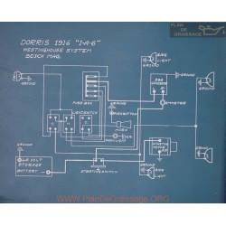 Dorris I A 6 Schema Electrique 1916