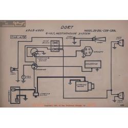 Dort 39 L C39 C39l 6volt Schema Electrique 1919 1920 Westinghouse