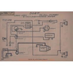 Dort 39l Export 6volt Schema Electrique 1920 1921 Westinghouse