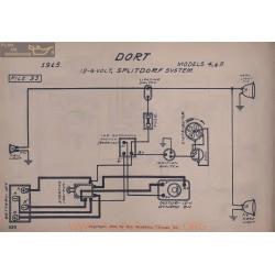 Dort 4 5 12volt 6volt Schema Electrique 1915 Splitdorf V2