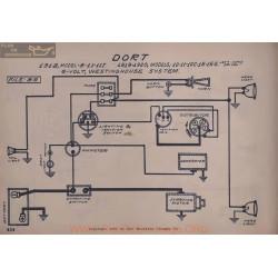 Dort 8 11 11t 10c 15 15s 6volt Schema Electrique 1918 1919 1920 Westinghouse