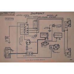 Dupont A 6volt Schema Electrique 1920 1921 Westinghouse