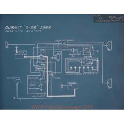 Durant B22 Schema Electrique 1922