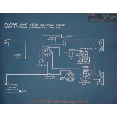 Elcar 4 6 Schema Electrique 1922