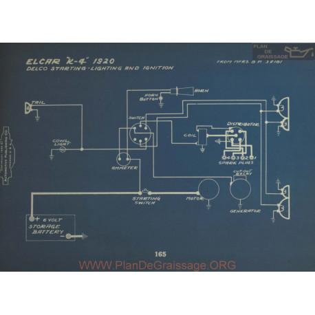 Elcar K4 Schema Electrique 1920 Delco