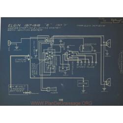 Elgin 6 H Schema Electrique 1917 1918 1919 Wagner Remy