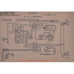 Elgin K 6volt Schema Electrique 1920 Wagner