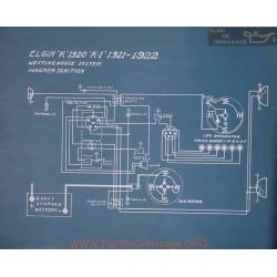 Elgin K Schema Electrique 1920
