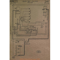 Elgin Six Schema Electrique 1917 1918 Wagner