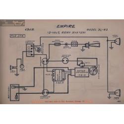 Empire 31 40 12volt Schema Electrique 1915 Remy V2