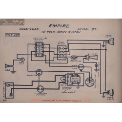 Empire 33 12volt Schema Electrique 1915 1916 Remy V2