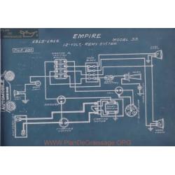 Empire 33 12volt Schema Electrique 1915 1916 Remy