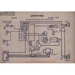 Empire 45 6volt Schema Eelectrique 1916 Autolite