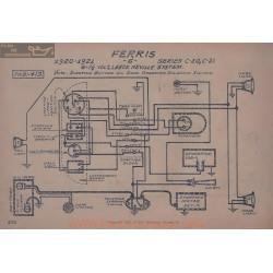 Ferris C20 C21 6volt 7volt5 Schema Electrique 1920 1921 Leece Neville
