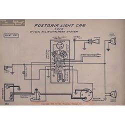 Fostoria Light Car 6volt Schema Electrique 1916 Allis Chalmers