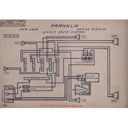 Franklin 2 D H M 12volt Schema Electrique 1913 1914 Entz V2