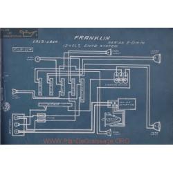 Franklin 2 D H M 12volt Schema Electrique 1913 1914 Entz