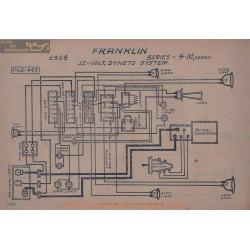 Franklin 4 M Sedan 12volt Schema Electrique 1914 Dyneto