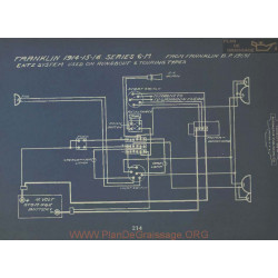 Franklin 6m Schema Electrique 1914 1915 1916 Entz Runabout