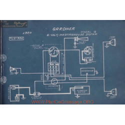 Gardner G 6volt Schema Electrique 1920 Westinghouse