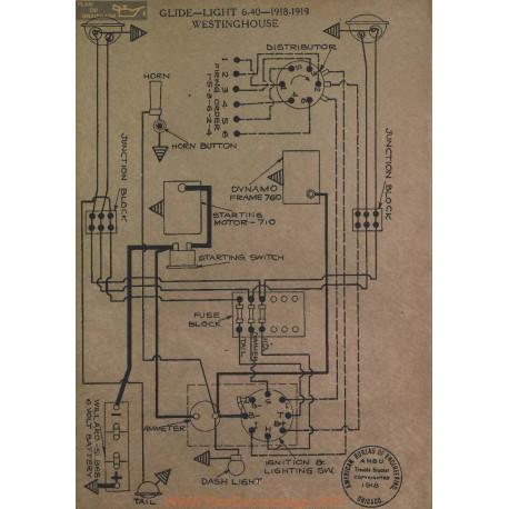 Glide Light 6 40 Schema Electrique 1918 1919 Westinghouse