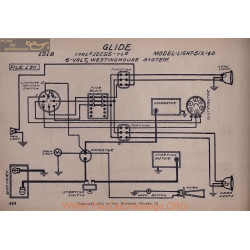 Glide Light Six 40 6volt Schema Electrique 1918 Westinghouse