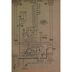 Grant G Schema Electrique 1918 1919 Wagner
