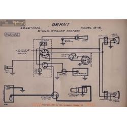 Grant G6 6volt Schema Electrique 1918 1919 Wagner V2