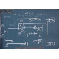 Grant G6 6volt Schema Electrique 1918 1919 Wagner