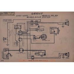 Grant Hx Hy 6volt Schema Electrique 1920 1921 Bijur