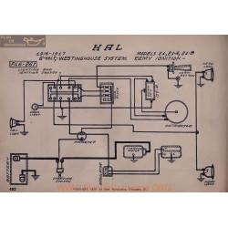 Hal 21a 21b 6volt Schema Electrique 1916 1917 Westinghouse
