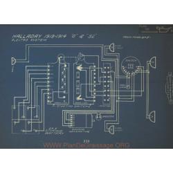 Halladay G 32 Schema Electrique 1913 1914 Electro