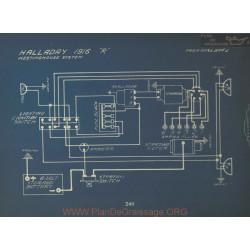 Halladay R Schema Electrique 1916 Westinghouse