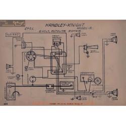 Handley Knight A 6volt Schema Electrique 1921 Autolite