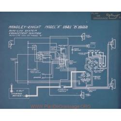 Handley Knight B Schema Electrique 1922