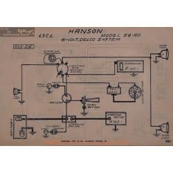 Hanson 54 60 6volt Schema Electrique 1921 Delco