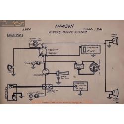 Hanson 54 6volt Schema 1920 Delco