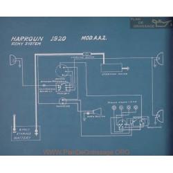 Harroun Model Aa2 Schema Electrique 1920