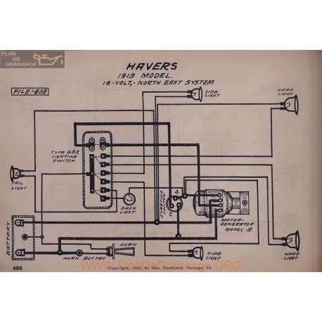 Havers 16volt Schema Electrique 1913 North East