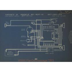 Haynes 12 40 40r 41 Schema Electrique 1917 1918 1919 Leece Neville Remy