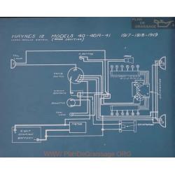 Haynes 12 40 40r 41 Schema Electrique 1917 1918 1919