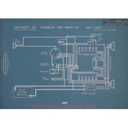 Haynes 12 40 40r 41 Schema Electrique 1917 1918