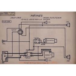 Haynes 21 22 23 24 25 12volt Schema Electrique 1912 1913 Leece Neville V2