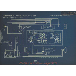 Haynes 26 27 28 Schema Electrique 1914 Leece Neville