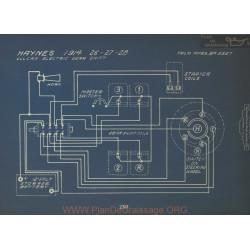 Haynes 26 27 28 Schema Electrique 1914 Vulcan