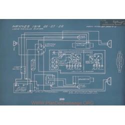 Haynes 26 27 28 Schema Electrique 1914