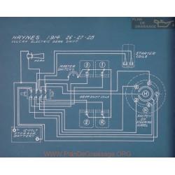 Haynes 26 27 28 Vulcan Gear Shift Schema Electrique 1914