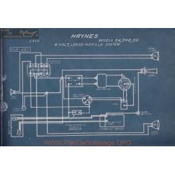 Haynes 34 34r 35 6volt Schema Electrique 1916 Leece Neville