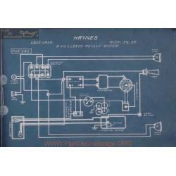 Haynes 34 35 6volt Schema Electrique 1915 1916 Leece Neville